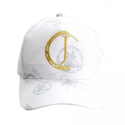 White Baseball Cap with J logo
