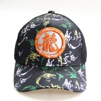 Baseball Cap with Dragon logo and grey camouflage pattern