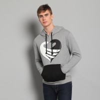 JC Design Grey Hoody with Peace DoveLogo