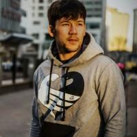 JC Design Grey Hoody with Peace DoveLogo