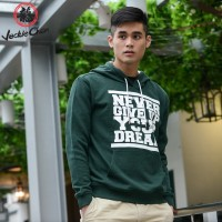 """JC Design """"Never Give Up Your Dream"""" Green Sweater Hoody"""