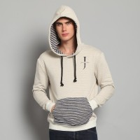"JC Design 'Simplicity"" Light Grey Hoody with new Jackie Chan Logo and striped front pocket"