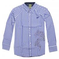 JC Design Dragon in Blue Checkers long sleeve shirt