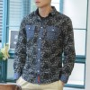 JC Design Slim cut long sleeves shirt in dark floral pattern