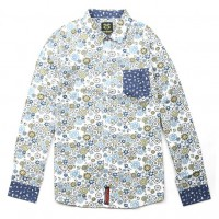 JC Design Slim cut long sleeves shirt in colorful floral pattern