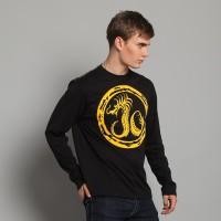 JC Design Fire Dragon Long Sleeve Tee Shirt