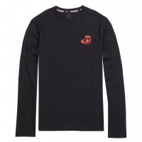 JC Design Red JC Logo Long Sleeve Tee Shirt