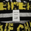 Jackie Chan Men's Brief in Black/Grey stripes and yellow vintage logo