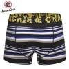 Jackie Chan Men's Brief in Blue/Black/Grey/White stripes and yellow vintage logo