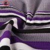 Jackie Chan Men's Fly-Front Brief in Purple/Black/Grey/White stripes and yellow vintage logo