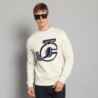 JC Design Blue JC Logo White Sweatshirt