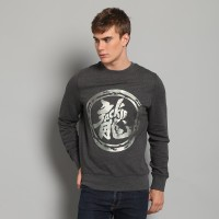 JC Design Silver Dragon Logo Grey Sweatshirt
