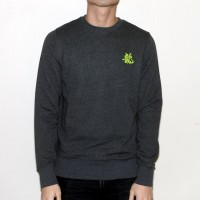 JC Design Green Dragon Word Philosophy Grey Sweatshirt