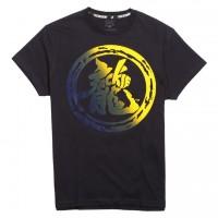 JC Design Color Fading Dragon Logo Short Sleeve Tee Shirt