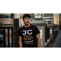 JC Design Black Color Short Sleeve Tee Shirt with JC King of Best slogan