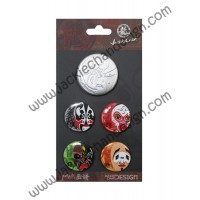 Dragon & Mask Badge Set