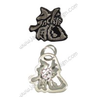 Dragon Logo Metallic Sticker and Pendant Sets (B, C, D or E)