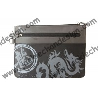 Jackie Chan Dragon Logo Clutch Bag (Black)