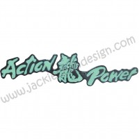 Action & Power Dragon Logo Car Emblem