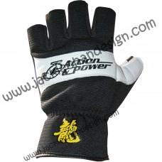 Action & Power Fingerless Leather Gloves