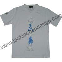 """Mo Long Mo"" T-Shirt (White/Blue)"