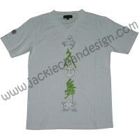 """Mo Long Mo"" T-Shirt (White/Green)"