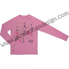 Chinese Poem Long Sleeve T-Shirt (Pink)