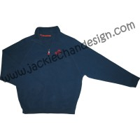 Action & Power Pullover (Navy Blue & Red/Grey)