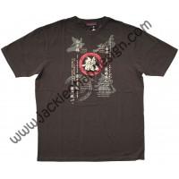 Dragon's Philosophy & Opera Mask T-Shirt (Brown)