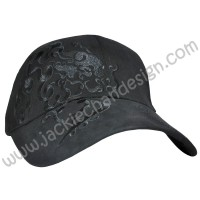 Dragon Design Embroidery Cap (Black)
