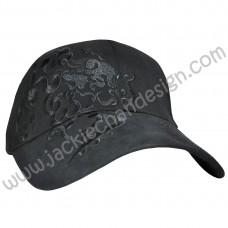 Dragon Design Embroidery Cap (Black)