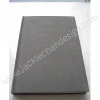 """Home Projects"" Felt Cover Notebook (Grey)"