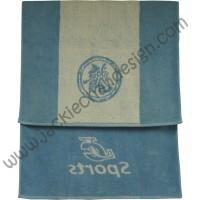 Dragon Logo JC Sports Bath Towel - Blue with White Stripe