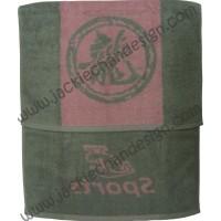 Dragon Logo JC Sports Towel - Grey with Pink Stripe