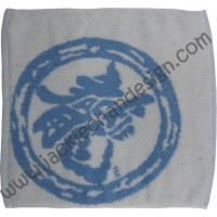 Dragon Logo Face Cloth - Blue on White