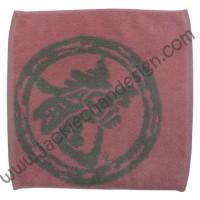 Dragon Logo Face Cloth - Grey on Pink