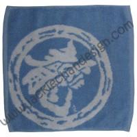 Dragon Logo Face Cloth - White on Blue