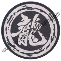 Dragon Logo Black & White Coaster