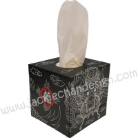 Dragon Design Tissue Box (Black)