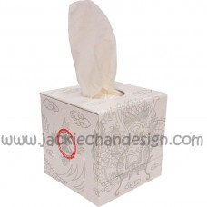 Dragon Design Tissue Box (White)